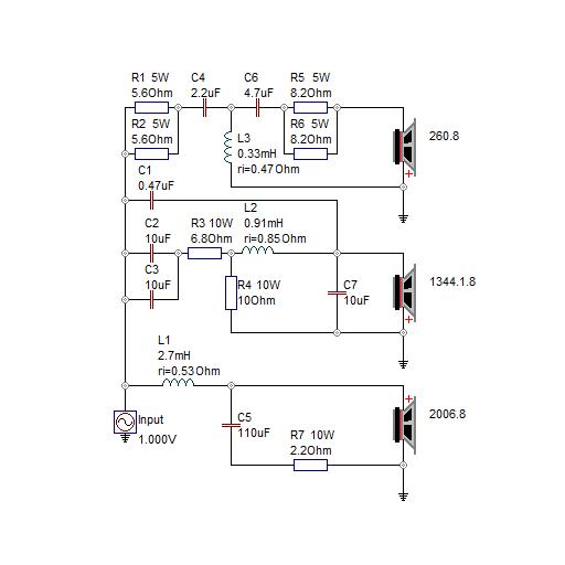 Схема фильтр акустики 851